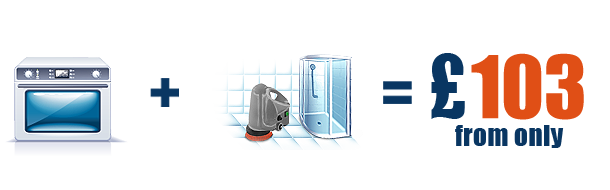Deep oven cleaning + PROFESSIONAL Bathroom Scrubbing and de-scaling with professional equipment from only £  103 extra